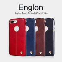 Кожаный чехол накладка Nillkin Englon для Apple iPhone 7 Plus (4 цвета)