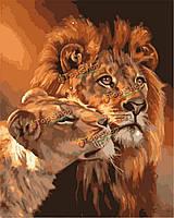 Картина по номерам цифровой живописи маслом поделок маслом комплекты льва бескаркасных холст домашнего декора стены 40x50cm