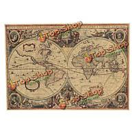 Ретро крафт-бумага 1641 старый глобус карта навигации домашнего декора