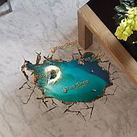 Этикетка Пага 3-е стенное морское островное отверстие пола переводных картинок этикетка Грин-Лейка домашний стенной подарок обстановки