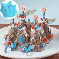 Сделай сам роскошный замок прессформы торта лотка выпечки хлеба инструмент прессформы