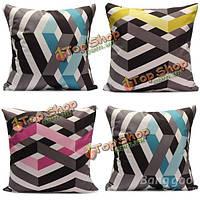 Геометрическая полоса печати раскладной диван подушка подушка чехол