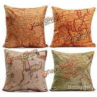Карта мира ситец белье наволочка диван-кровать Чехлы