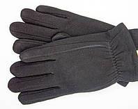 Перчатки с кроликом черного цвета