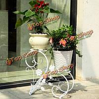 Железа цветочный горшок стойку домашнего декора сада бонсай дисплей стенд держатель