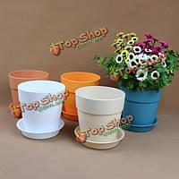 Смола пластиковый горшок с лотка садовые растения цветочном горшке