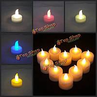 10шт светодиодные фонари свечи беспламенной чай свечи свет лампы электронные свечи партия домой свадебный декор