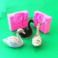 Торт плесень помадной инструменты мыла украшения прессформы украшения венчания кекс Swan силиконовые 3d