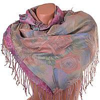 Женский двухсторонний платок из пашмины 91 на 87 см OZSOY AKSESUAR (ОЗСОЙ АКСЕСУАР) SAT12556