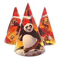 """Колпачки бумажные """"Панда Кунг-фу"""". Размер: 16см."""