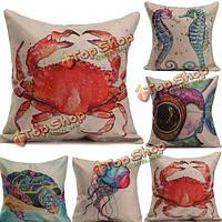 Морских животных печатных диван подушки крышки домашнего офиса Чехлы