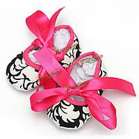 Детские кроватки девочки хлопок обувь мягкой подошве печатных дамасской лук 0-18m