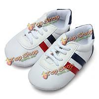 Малыш нескользящая подошва спортивная обувь унисекс для малышей шнурки тапочки