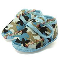 Камуфляж мягкой подошвой кроватку обувь prewalker малыша грудного малыша