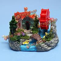 Оформление аквариума аквариум декоративные скала ветроколесо