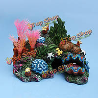 Аквариум смолы коралловых морских раковинах водных растений рокария украшения