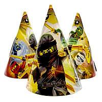 """Колпачки бумажные """"Ninjago 3"""".  Размер: 16см."""