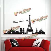 Эйфелева башня на 90*60 см парижская стенная стена фрески искусства этикетки сменные обои