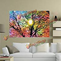 33 × 50см 1шт дерево солнце картины психоделический триповый природа искусства шелка плакат домашнего декора