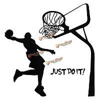 Просто сделай это баскетбол стены этикету поделки съемные спорта домашнего декора номере наклейки обоев искусства