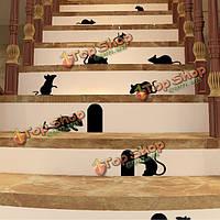 Черные дыры мышей и крыс мыши стикер стены домашний декор искусство этикет