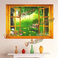 3D представление Windows сменный стенной внутренний декор фрески переводной картинки искусства этикетки