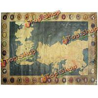 28x20-дюймов старый карта мира старинные бумаги плакат троны домой кафе декор стен подарок матовый крафт