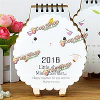 2016 настольный календарь овец офисная бумага планировщик ежемесячно стенд стол коврик бумага ежедневный план
