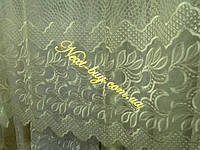 Тюль органза с вышивкой «Marlin 2» шампань Турция