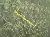 Тюль органза с вышивкой «Marsha» шампань Турция