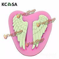 KCASA™ крылья ангела силикона помадки формы шоколада полимерная глина плесень