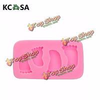 KCASA™ ножные пальцы силиконовая форма форма посуды Cake декора помадная мыло плесень