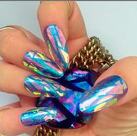 """Фольга """"Битое стекло"""" для ногтей, 25см*5 см ОРИГИНАЛ № 1"""