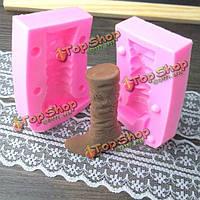 3D сапоги fondant силикона прессформы шоколада прессформы полимерной глины