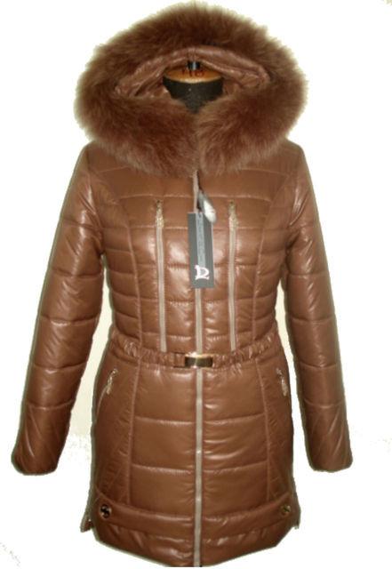 Пуховик с мехом в цвет куртки