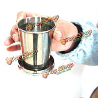 Stainless Steel Collapsible Folding Cup Traveling Outdoor Portable Drinking Cup