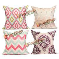 Красочные геометрический хлопок белья случаев дома диван офис подушки наволочка