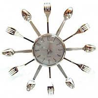 Настенные часы кухонные Вилки и Ложки маленькие