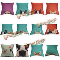 Мультфильм кошка собака хлопок лен подушку случаях талии подушке покрытия дома диван декор