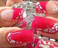 """Фольга """"Битое стекло"""" для ногтей, 25см*5 см ОРИГИНАЛ № 8"""