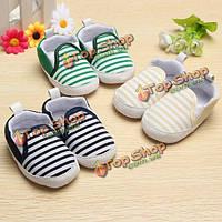 Малыш Baby младенческой военно-морских нашивки ходунки кроватке на мягкой подошве обуви