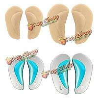 Малыш ребенка плоскостопие ортопедические стельки поддерживают свод обуви силиконовые подушечки