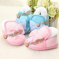 Младенческая кроватка детская обувь малыша ходьбе бантом мягкие сапоги