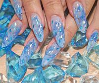 """Фольга """"Битое стекло"""" для ногтей, 25см*5 см ОРИГИНАЛ № 13"""