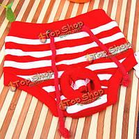 Красный и белый полосатый здоровья физиологические брюки для питомца