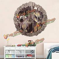 3D просмотр 50x50см Парк Юрского динозавр детская комната декор стены стикер стены отличительные знаки фреску
