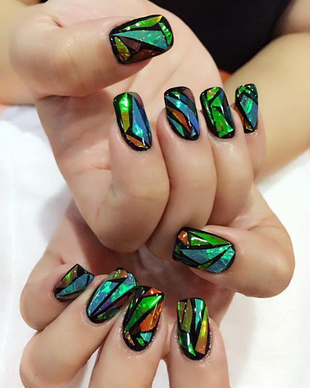"""Фольга """"Битое стекло"""" для ногтей, 25см*5 см ОРИГИНАЛ № 15"""