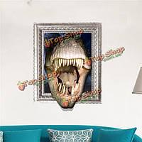 Крокодил дракона 3d стены наклейки наклейка вол подарок декора съемные стикеры стены животных стены дома