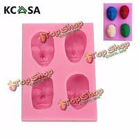 KCASA™ мужской лицо силиконовые формы шоколада fandant полимерная глина плесень