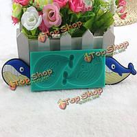 Формы силиконовые помадной плесень конфеты торт плесень силикон акула, фото 1